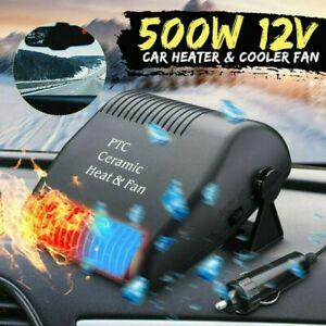 500W 12V Car Fan Heater Defroster Cooler Dryer Demister Auto Portable Heating n-