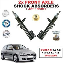 FRONT LEFT + RIGHT SHOCK ABSORBERS for CORSA C 1.0 1.2 1.3 1.4 1.7 1.8 2000-2006