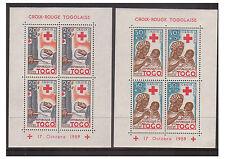 TOGO-SG 236/7 x 4-U/M - 1959 croix rouge