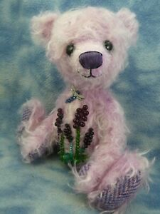 "9"" OOAK Adorable Mohair Artist Bear with Beaded detail *Esmerelda* Bramber Bears"