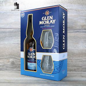 Glen Moray Classic Peated Geschenk-Set, SINGLE MALT WHISKY, 0,7l, 40%