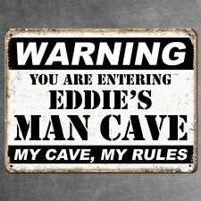 PERSONALIZED METAL SIGN MAN CAVE VINTAGE RETRO GARAGE BAR PLAQUE BEST MAN GIFT 1