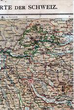 Zürich Schaffhausen Winterthur Zug 1910 kl. orig. Teilkarte/Ln. Rapperswil Baden