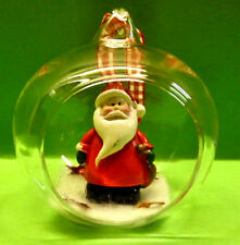 1 Weihnachtsbaumkugel Christbaumschmuck Weihnachten Kugel Figur Weihnachtsmann