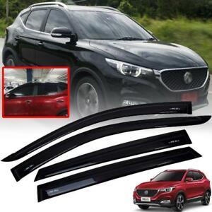 FOR MG MG ZS 17+ RAIN VISOR WEATHER GUARD WIND SHIELD GLOSS BLACK