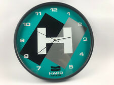 custom old school skateboard bmx clock Teal Haro