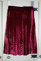 Deport 96 Women's Red Velvet Pleated Skirt Size XS New With Tags NWT