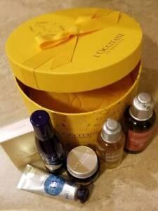 L'Occitane 6 Pc Gift Set Amande Shower, Essential Oils Shampoo, Terre de Lumiere