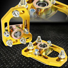 FOR 79-89 FORD MUSTANG FRONT ADJUSTABLE +/-3.0 CAMBER +/-2.0 CASTER PLATES GOLD