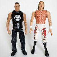 WWE R-3 Tech THE ROCK & CHRISTIAN Figure Lot Jakks Pacific Wrestling WWF WCW NWO