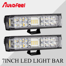 "2019 Autofeel 2PCS 7inch 400W LED Light Bar Combo Spot Flood 4WD Truck ATV 9"" 6"""