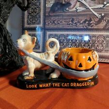 YANKEE CANDLE BONEY BUNCH 2016 LOOK WHAT THE CAT DRAGGED IN TEA LIGHT HOLDER HTF