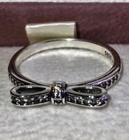 PANDORA DELICATE BOW RING  ,190906CZ ,S925 ALE STERLING SILVER,ALL SIZE