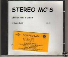 (L650) Stereo MC's, Deep Down and Dirty - DJ CD
