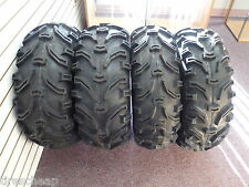"25"" (4) BEAR CLAW ATV TIRES (2) 25X8-12 (2) 25X12.50-10  FULL COMPLETE SET FOUR"