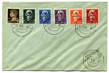 Six stamps PSI MANTOVA  Postmarked First Day Issue 27 Settembre 1945 - Very Rare