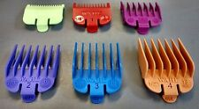 WAHL COLOUR CLIPPER GUARD ATTACHMENT COMBS X6 - SIZE: 0.5/1/1.5/2/3/4