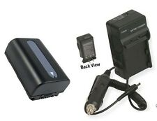 Battery + Charger for Sony HDR-CX100E HDRCX100E HDR-CX100R DSC-HX100V DSC-HX100