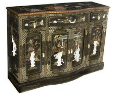 """oriental furniture black lacquer cabinet 60"""" Chinese Cupboards credenza"""