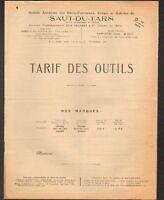 """SAINT-JUERY (81) USINE d'OUTILS de FORGERON """"FORGES & ACIERIES du SAUT-DU-TARN"""""""