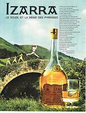 PUBLICITE ADVERTISING  1964   IZARRA  liqueur