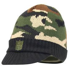 "REEBOK NFL Logo ""The Shield"" Camo Fashion Bill Beanie Hat Cap Winter Ski"