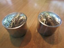 Guitar knobs custom indian with polished steel shaft.