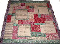 Occasions of the Season ~ Christmas Music Tapestry Afghan Throw