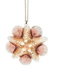 Beach Tropical Theme Christmas Tree Ornament Shell Starfish Design Coastal New