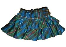 Girls Ralph Lauren Skirt Age 18 Months Green Tartan Tiered Frill With Buckles
