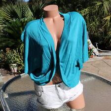 NWT Lane Bryant 26/28 4X Turquoise Career Casual Boho Shawl Sweater Jacket New!