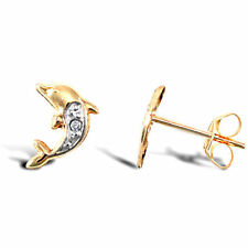 Stud Yellow Gold Animals & Insects Costume Earrings
