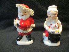 VTG SANTA & MRS. CLAUSE SPAGHETTI S/P SHAKERS  BY NAPCO   ***ON SALE***