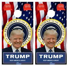 President Trump Maga, Kag Cornhole Board Game Wraps Free Lamination #3335