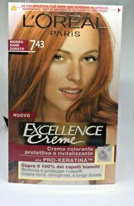 L Oreal Excellence crema colorata alla pro-keratina 7,43 biondo rame dorato