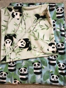 Handmade Panda Throw Blanket