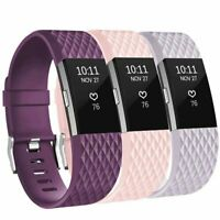 For Fitbit Charge 2 Replacement Wristband Wrist Strap Smart Watch Band 3 Pack