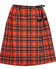 Adorable Vintage Archie Brown & Son Bermuda Scottish Wool Plaid Kilt Skirt 12-14