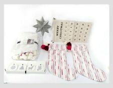 Hearth and Hand with Magnolia Christmas Calendar skirt Stocking bundle