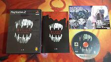BLOOD: THE LAST VAMPIRE JOUKAN NTSC JAP SONY PLAYSTATION 2 PS2 ENVÍO 24/48H