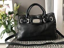 Michael Kors Hamilton black leather satchel bag shoulder bag handbag