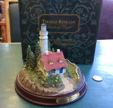 1999 Thomas Kinkade Seaside Memories Lighted Lighthouse-Clearing Storms With Box