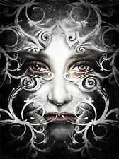 ART PRINT POSTER PAINTING DRAWING FANTASY ORNATE MASKED WOMAN COOL LFMP1052