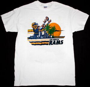 Vintage Los Angeles Rams T Shirt White Unisex Cotton Reprint S-3XL TK4794