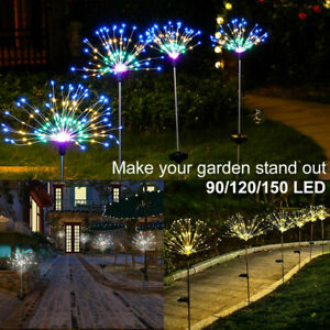 120/150 LED Firework Starburst Solar Light for Frontyard Patio Lawn Christmas
