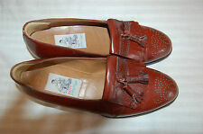 Bally Prestige 712 Richfield Brown Lether Loafers with Tassels Size 8 1/2 E
