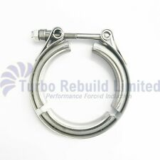 """2.5"""" Heavy Duty V Band Turbo Exhaust Downpipe Decat Flange Clamp Stainless Steel"""