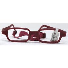Miraflex New Baby 1 Glass Frames NB1 KM Burgundy Metallic 39/14