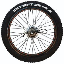 "Nakto 300W Brushless 26"" X 4.0 Fat Tire Rear Wheel with Motor for 26"" ebike"