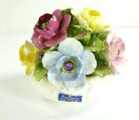 "Aynsley Fine Bone China 6"" Flower Bouquet Hand Modeled England Crown Est 1775"